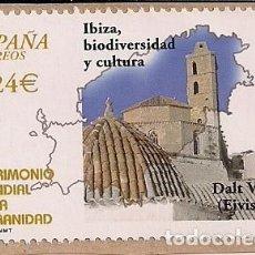 Sellos: FRAGMENTO CON SELLO NUEVO DE IBIZA PATRIMONIO MUNDIAL 2001. Lote 124681363
