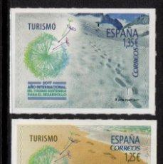 Sellos: ESPAÑA 5114/15** - AÑO 2017 - AÑO INTERNACIONAL DEL TURISMO SOSTENIBLE PARA EL DESARROLLO. Lote 191127328