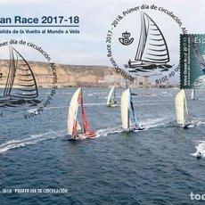 Sellos: ESPAÑA 2018 SALIDA EN EL PUERTO DE ALICANTE DE LA VOLVO OCEAN RACE 2017-18 FDC ED 5243. Lote 136305422