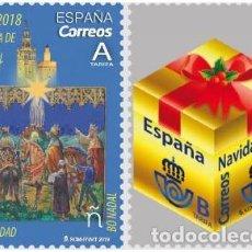 Sellos: ESPAÑA 2018 NAVIDAD SET 2V. ED 5263-64. Lote 136421222