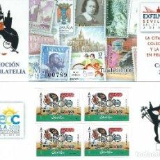 Sellos: ESPAÑA - CARNET PROMOCION DE LA FILATELIA 2018 EXFILNA ECC SEVILLA - CON 4 SELLOS PERFORADOS. Lote 193454068