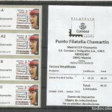 Sellos: ESPAÑA SPAIN ATM MADRID CHAMARTIN 2019 LETRAS 4 TARIFAS CON RECIBO. Lote 146858690