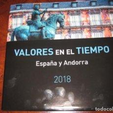 Sellos: LIBRO VALORES EN EL TIEMPO DE CORREOS SIN SELLOS DE ESPAÑA 2018, SOLO LLEVA LOS DE ANDORRA. Lote 151582138