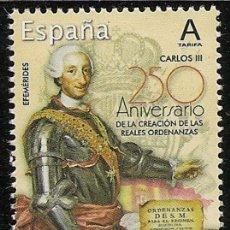 Sellos: ESPAÑA 2019 250 ANIV. REALES ORDENANZAS CARLOS III MNH ED 5291 YT 5022. Lote 152370074