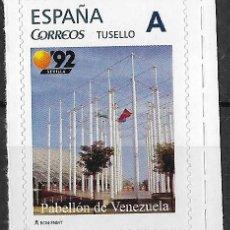 Selos: ESPAÑA. TUSELLO. EXPO'92 SEVILLA. PABELLON DE VENEZUELA. Lote 152601094