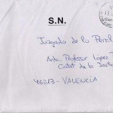 Sellos: SOBRE CON SELLO FRUTAS Y GIRASOL. MEMBRETE OFICIAL AGRUPACIÓN DE SECRETARIAS DE JUZGADOS DE PAZ. Lote 156006050