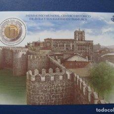 Sellos: 2019 HOJITA BLOQUE PATRIMONIO MUNDIAL, CENTRO HISTORICO DE AVILA. Lote 160250110