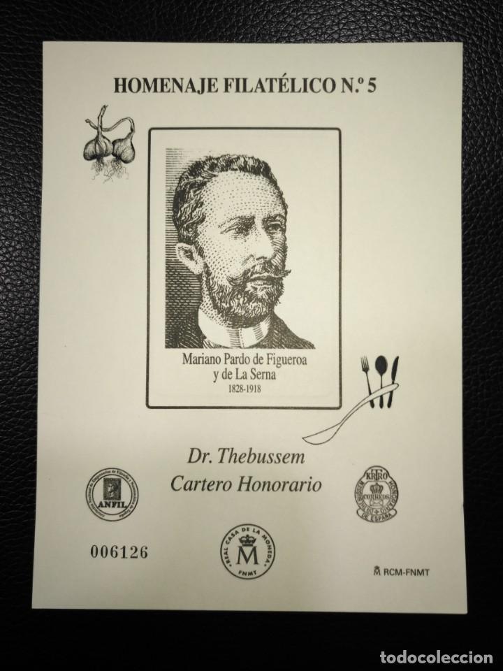 HOMENAJE FILATELICO 9A PRUEBA CONDE SAN LUIS GASTRONOMIA (Sellos - España - Felipe VI)