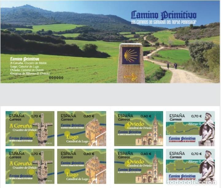 ESPAÑA 2019 CARNET LOS CAMINOS DE SANTIAGO DEL NORTE PENINSULAR. CAMINO PRIMITIVO MNH ED C5335-38 (Sellos - España - Felipe VI)