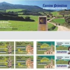 Timbres: ESPAÑA 2019 CARNET LOS CAMINOS DE SANTIAGO DEL NORTE PENINSULAR. CAMINO PRIMITIVO MNH ED C5335-38. Lote 215671142
