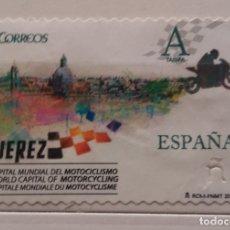 Sellos: ESPAÑA 20016, SELLO USADO JEREZ CAPITAL MUNDIAL DEL MOTOCICLISMO. Lote 178832461