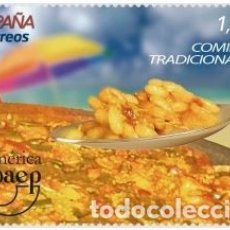 Sellos: ESPAÑA 2019 AMÉRICA UPAEP COMIDAS TRADICIONALES. PAELLA MNH ED 5349 YV 5095 . Lote 178920403