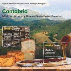 Sellos: [CF2503] ESPAÑA 2019, HB GASTRONOMÍA: CANTABRIA (MNH). Lote 179197943