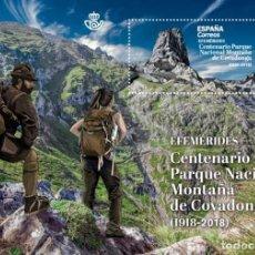 Sellos: [CF2504] ESPAÑA 2019, HB CENTENARIO PARQUE NACIONAL DE COVADONGA (MNH). Lote 179199348
