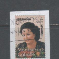 Sellos: SELLO USADO DE ESPAÑA -MONSERRAT CABALLÉ-, AÑO 2019. Lote 183603322