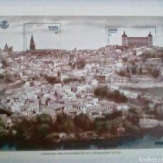 Sellos: TOLEDO PATRIMONIO MUNDIAL DE LA HUMANIDAD HOJA BLOQUE DE SELLOS NUEVOS. Lote 187109066