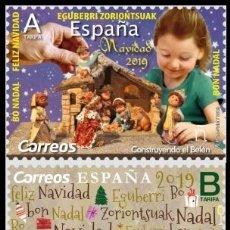 Sellos: ESPAÑA 2019 NAVIDAD SET 2V MNH ED 5284-85 YT 5101-02. Lote 187125740