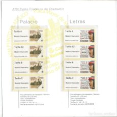 Sellos: LIBRITO CON LAS EMISIONES DE ATM 2019 ESPAÑA 36 ATM TODAS LAS TARIFAS. Lote 187316128