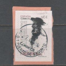 Sellos: SELLO USADO DE ESPAÑA -DÍA MUNDIAL DEL CORREO-, AÑO 2001. Lote 187437508