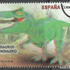 Sellos: SELLOS ESPAÑA EN EUROS, DINOSAURIOS . MUESTRA - SPECIMEN (LOTE 6). Lote 190907030