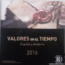 Selos: AÑO 2016. ESPAÑA Y ANDORRA. LIBRO OFICIAL DE CORREOS.. Lote 202931748