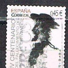 Sellos: EDIFIL Nº 5025, CENTENARIO DE CERVANTES, DON QUIJOTE, USADO. Lote 194332750