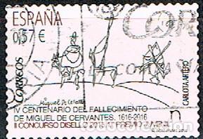 EDIFIL Nº 5024, CENTENARIO DE CERVANTES, DON QUIJOTE, USADO (Sellos - España - Felipe VI)