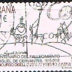 Sellos: EDIFIL Nº 5024, CENTENARIO DE CERVANTES, DON QUIJOTE, USADO. Lote 194332781