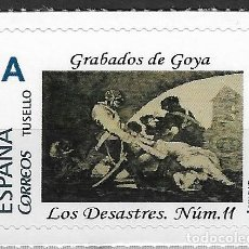 Sellos: ESPAÑA. GRABADOS DE GOYA. LOS DESASTRES DE LA GUERRA NUMERO 11. Lote 194915647