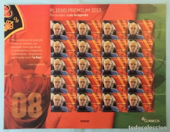 """2015-ESPAÑA EDIFIL 4962 MNH** LUIS ARAGONES SELECCIONADOR DE """"LA ROJA"""" - PLIEGO PREMIUM Nº 20 - (Sellos - España - Felipe VI)"""