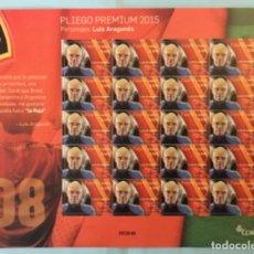 "Sellos: 2015-ESPAÑA EDIFIL 4962 MNH** LUIS ARAGONES SELECCIONADOR DE ""LA ROJA"" - PLIEGO PREMIUM Nº 20 -. Lote 195324558"