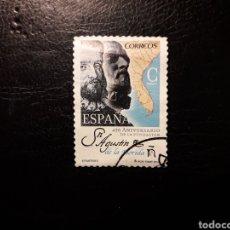 Sellos: ESPAÑA. EDIFIL 4992. SELLO SUELTO USADO. 450 AÑOS FUNDACIÓN SAN AGUSTÍN DE LA FLORIDA 2015.. Lote 196117050