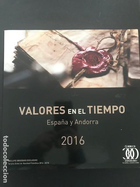 LIBRO OFICIAL DE CORREOS AÑO 2016 VALORES EN EL TIEMPO 2016 (Sellos - España - Felipe VI)