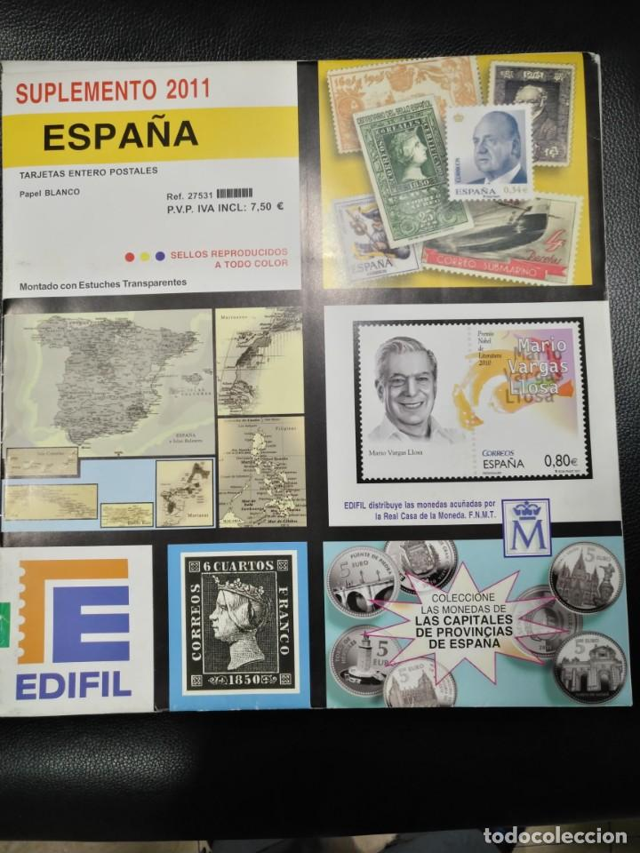 SUPLEMENTO EDIFIL ESPAÑA 2019 MONTADO EN BLANCO PARCIAL (Sellos - España - Felipe VI)