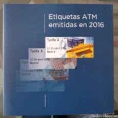 Sellos: CARPETA OFICIAL CORREOS ATM 2016 CON FILOESTUCHES. ATMS, ATM'S. Lote 289235953