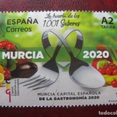 Sellos: 2020, MURCIA CAPITAL ESPAÑOLA DE LA GASTRONOMIA. Lote 203073591