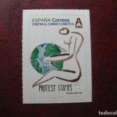 Sellos: 2020, CONTRA EL CAMBIO CLIMATICO, PROTEST STAMPS. Lote 203077520
