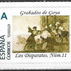 Sellos: ESPAÑA. TUSELLO. GRABADOS DE GOYA. LOS DISPARATES. NUMERO 11. Lote 205307841