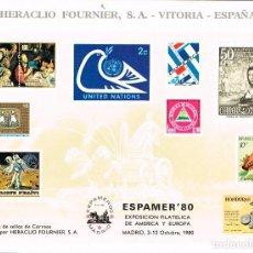 Sellos: AÑO 1980, HOJA RECUERDO DE ESPAMER (MADRID). Lote 206241566