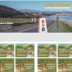 Sellos: ESPAÑA 2020 LOS CAMINOS DE SANTIAGO DEL NORTE PENINSULAR. CAMINO DE LIÉBANA 5,6 ED C5399-400 YT C51. Lote 207023230