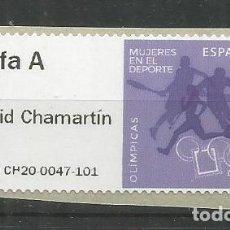 Sellos: ESPAÑA SPAIN 2020 ATM MUJERES EN EL DEPORTE OLIMPICAS OLYMPIC WOMEN TARIFA A. Lote 207219948