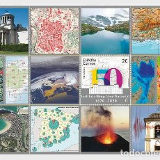 Sellos: SPAIN 2020 - 150TH ANNIVERSARY OF THE SPANISH NATIONAL GEOGRAPHIC INSTITUTE - MINIATURE SHEET. Lote 207237516