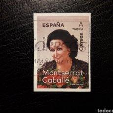 Sellos: ESPAÑA EDIFIL 5320 SERIE COMPLETA USADA. MONTSERRAT CABALLÉ. 2019.. Lote 207249961