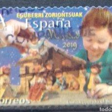 Sellos: ESPAÑA 2019 NAVIDAD SELLO USADO. Lote 209200925