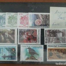 Sellos: SELLOS ANDORRA AÑO 2005 COMPLETO MNH NUEVOS. Lote 210100035