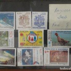 Sellos: SELLOS ANDORRA AÑO 2006 COMPLETO MNH NUEVOS. Lote 210100130
