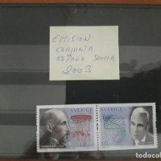 Sellos: SELLOS ESPAÑA AÑO 2003 MNH EMISION CONJUNTA CON SUECIA. Lote 210100393