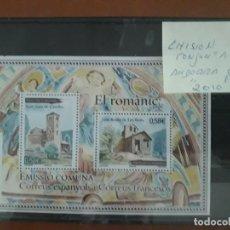 Sellos: SELLOS ESPAÑA AÑO 2010 MNH EMISION CONJUNTA ANDORRA ESPAÑOLA ANDORRA FRANCESA. Lote 210101120
