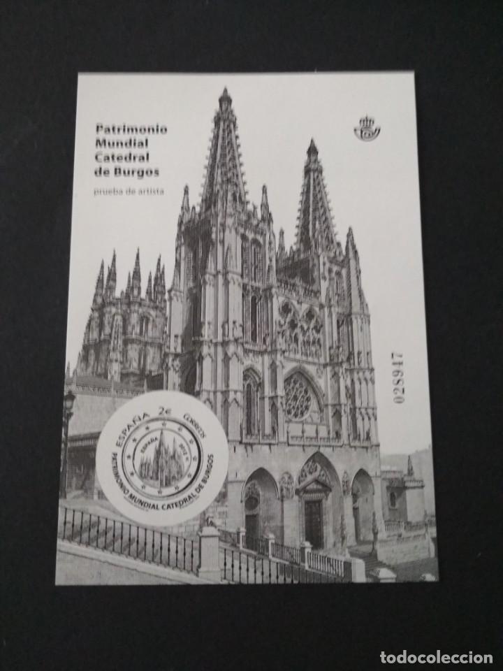 SELLOS ESPAÑA PRUEBA DE LUJO Nº 107 BURGOS VALOR DE CATALOGO 14€ (Sellos - España - Felipe VI)