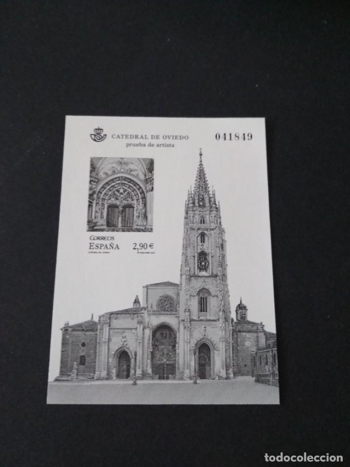 SELLOS ESPAÑA PRUEBA DE LUJO Nº 109 OVIEDO VALOR DE CATALOGO 14€ (Sellos - España - Felipe VI)